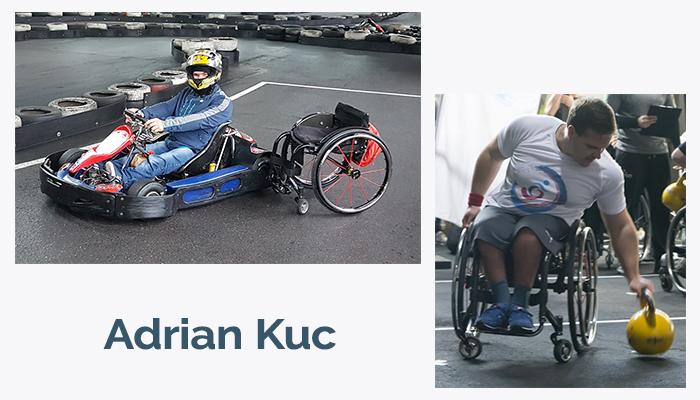 Osoba na wózku na zawodach crossfit
