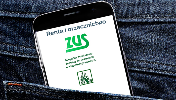 Logo ZUS i PCPR oraz KRUS